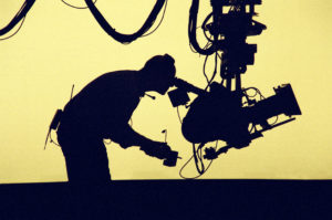 Silhouetted Cameraman