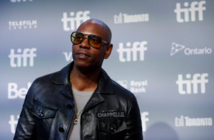 Actor Chapelle arrives for the press conference to promote the film A Star is Born at the Toronto International Film Festi...