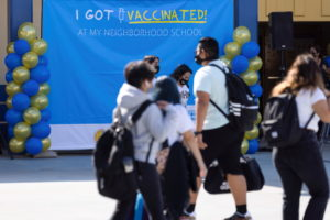 Mobile vaccination teams begin visiting Los Angeles schools to vaccinate middle and high school students