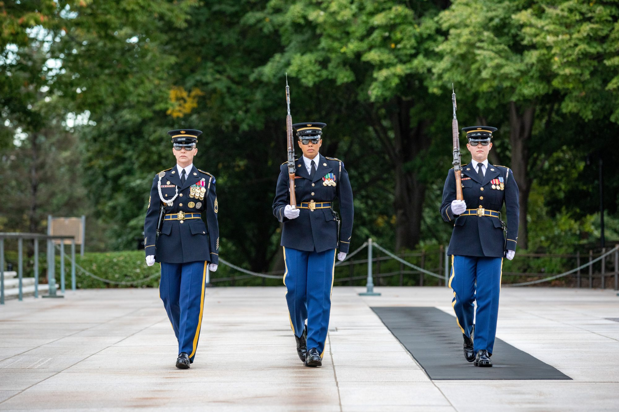 For the first time in history, an all-female guard change occurred at the Tomb of the Unknown Soldier at Arlington National Cemetery.