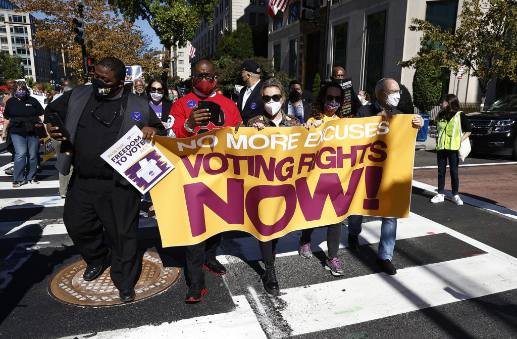 Voting protection bill blocked in Senate as several states restrict voting rights