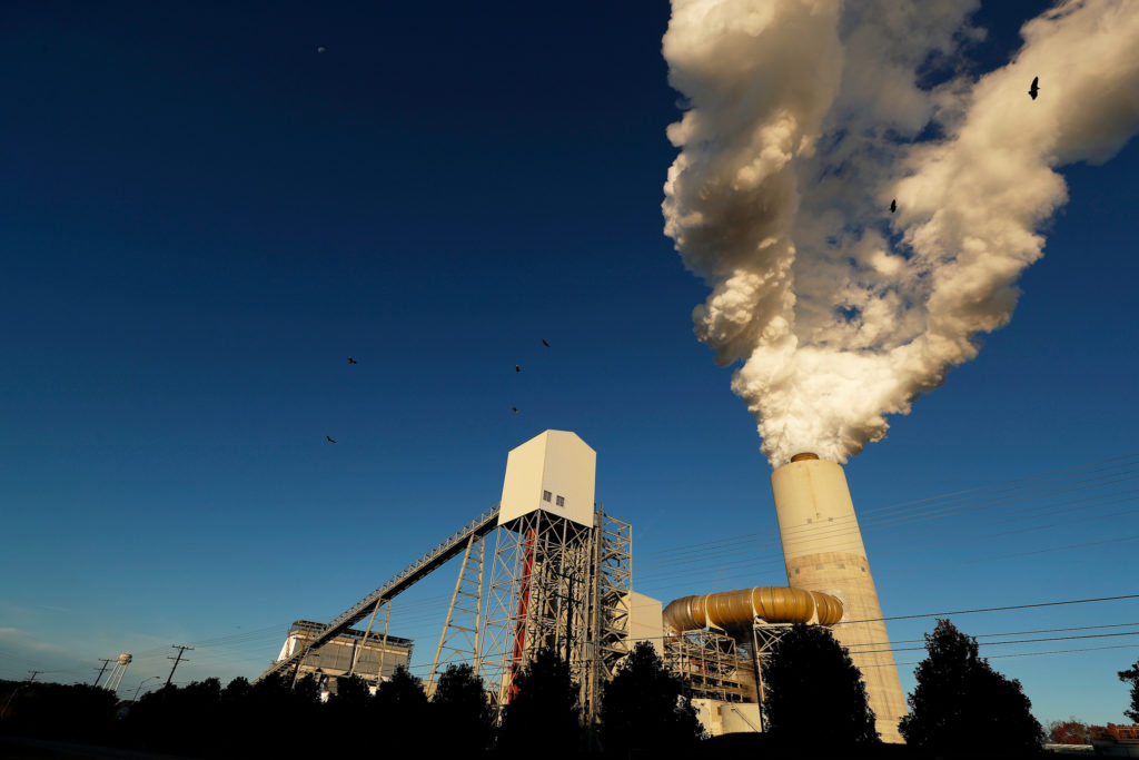 FILE PHOTO: A view of Duke Energy's Marshall Power Plant in Sherrills Ford